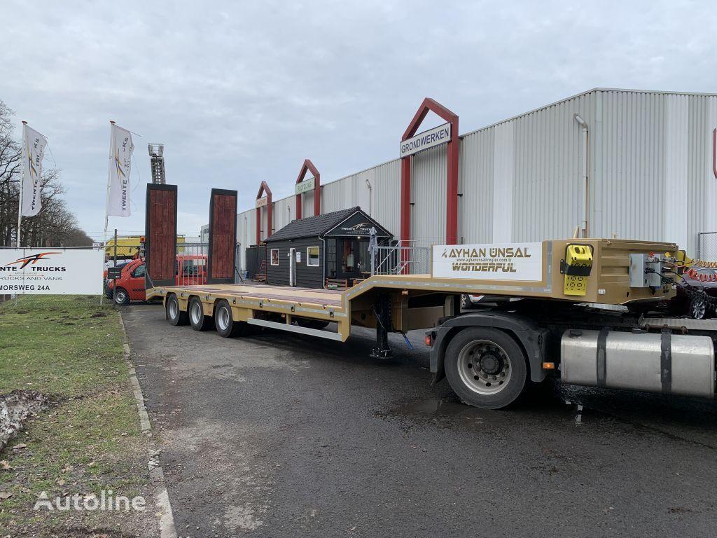 new KASSBOHRER Ayhan Ünsal 3 as semi low boy dieplader trailer 57 ton UNS3 low bed semi-trailer