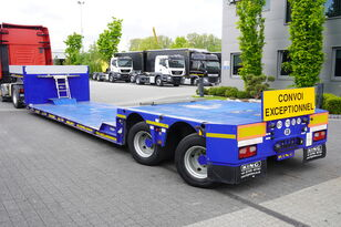KING lowered semi trailer , 2 hydraulic steer axles , remote control  low bed semi-trailer
