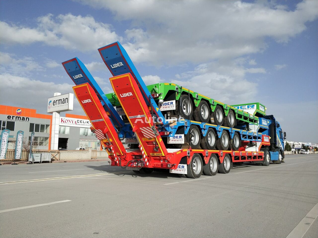 new LIDER 2020 NEW from manufacturer  low bed semi-trailer