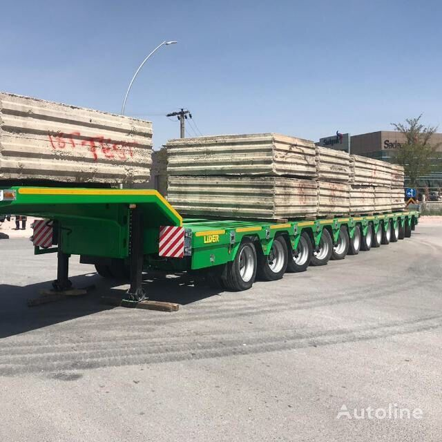 new LIDER 2021 Model 200 TONS CAPACITY New Productions Directly From Manuf low bed semi-trailer