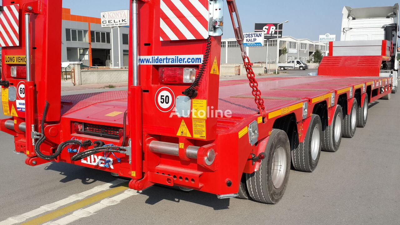 new LIDER 2021 NEW DIRECTLY FROM MANUFACTURER COMPANY AVAILABLE IN STOCK low bed semi-trailer