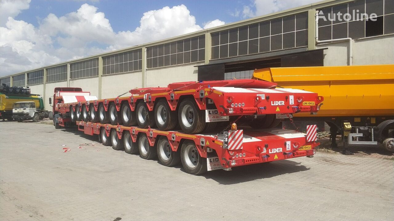 new LIDER 2021 model 150 Tons caapcity Lowbed semi trailer  low bed semi-trailer