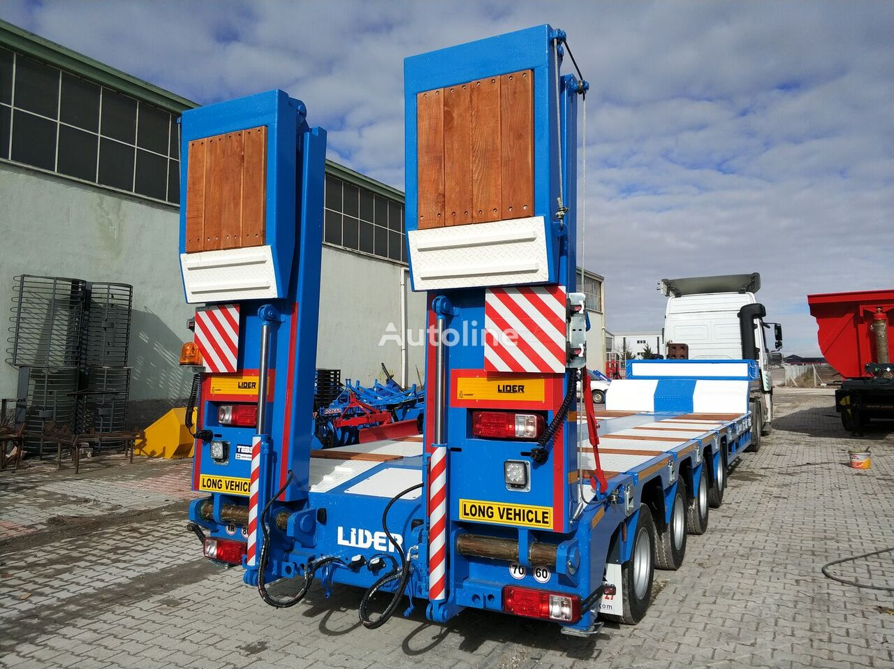 new LIDER 2021  model new directly from manufacturer company available sel low bed semi-trailer