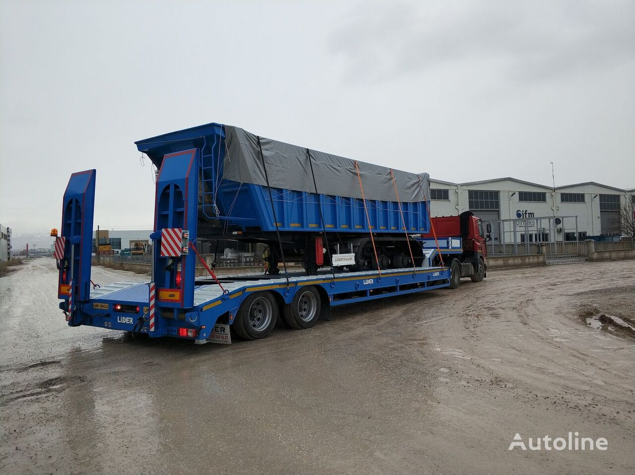 new LIDER 2021 model new from MANUFACTURER COMPANY Ready in stock low bed semi-trailer