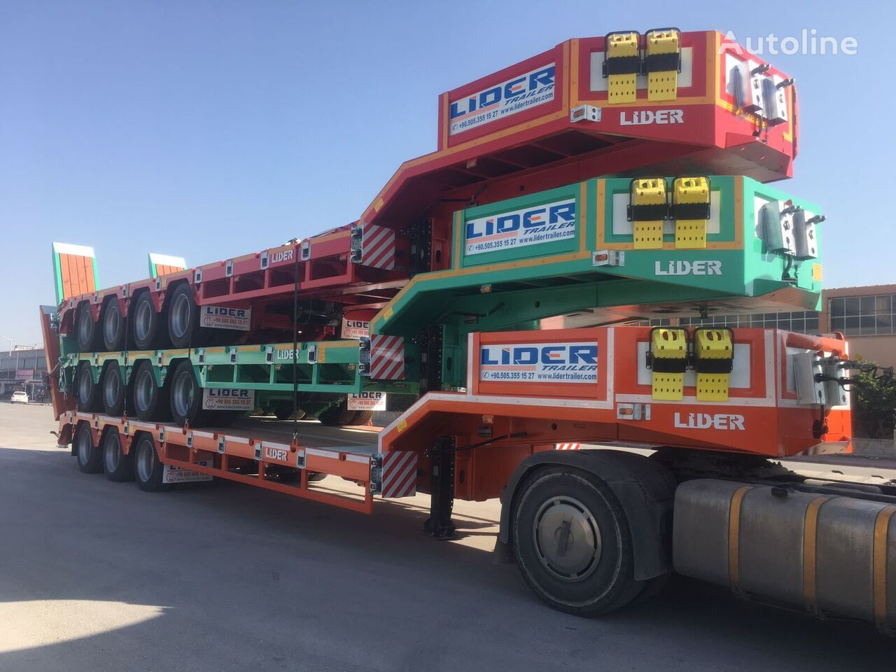 new LIDER NEW remorque surbaissée 2021 YEAR (MANUFACTURER COMPANY) low bed semi-trailer