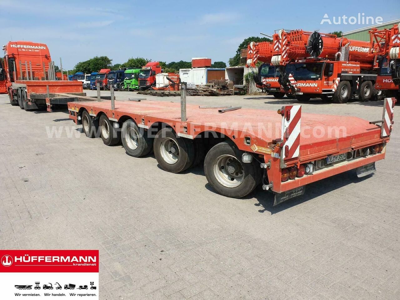 LinTrailers Tele-Semi-Tieflader / S5A low bed semi-trailer