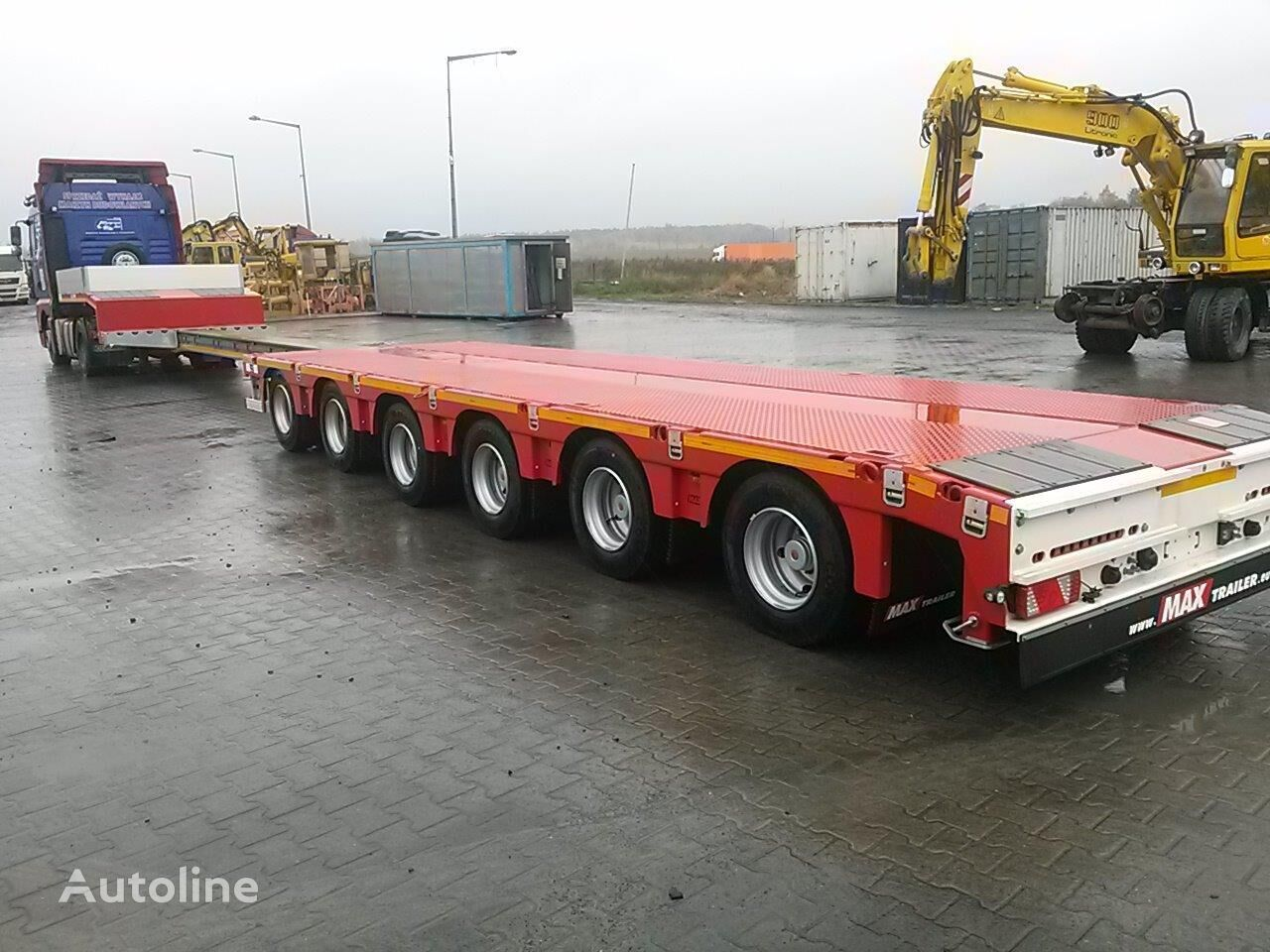 new MAX Trailer 100-N-6A-9.30 low bed semi-trailer
