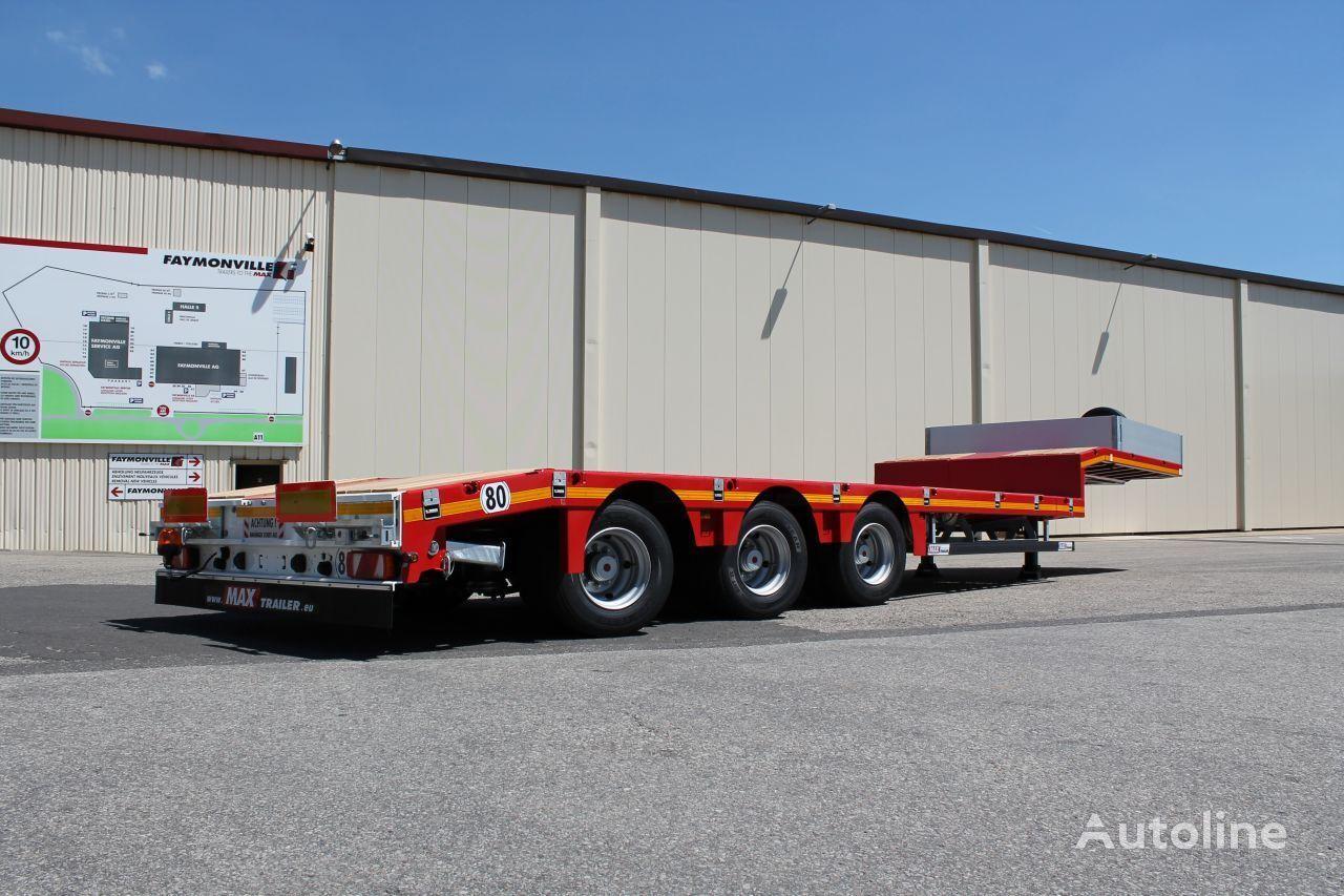 new MAX Trailer  2 x rozciągana hydrauliczny skręt osi low bed semi-trailer