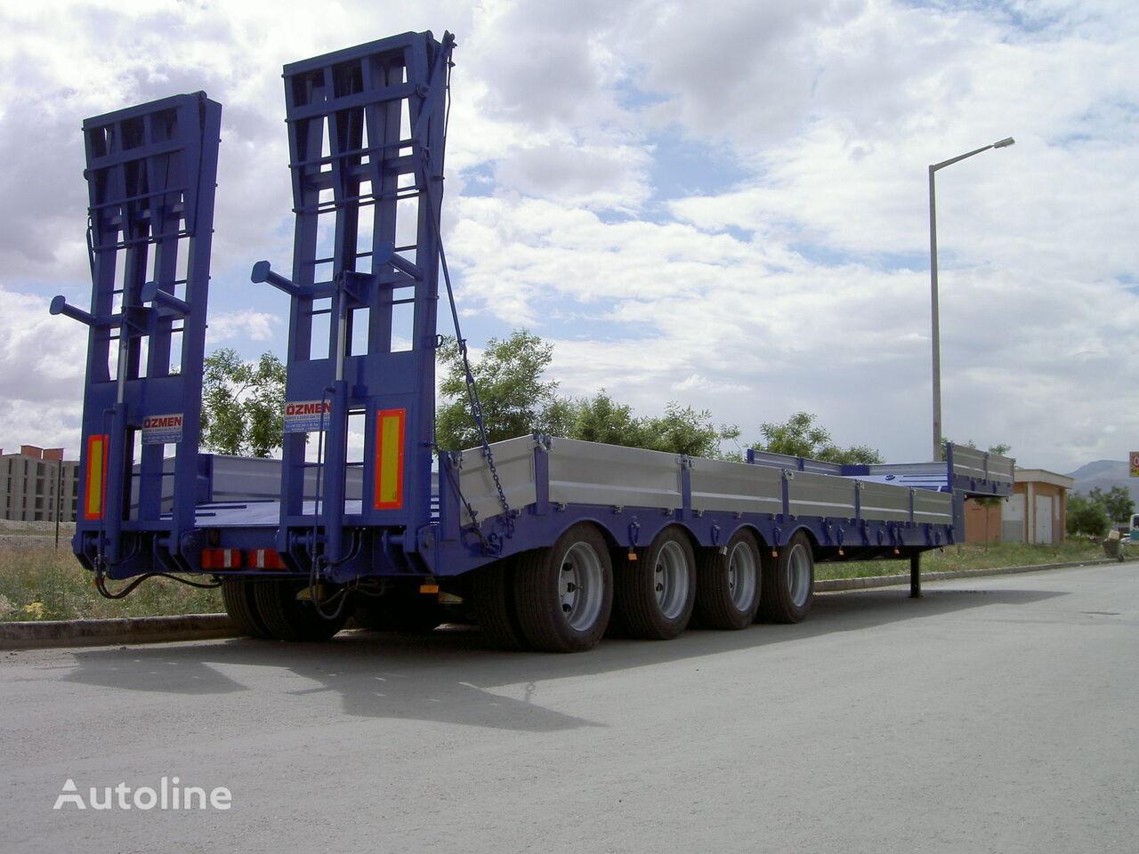new Ozmen Damper 4 AXLE LOWBED SEMI TRAILER low bed semi-trailer