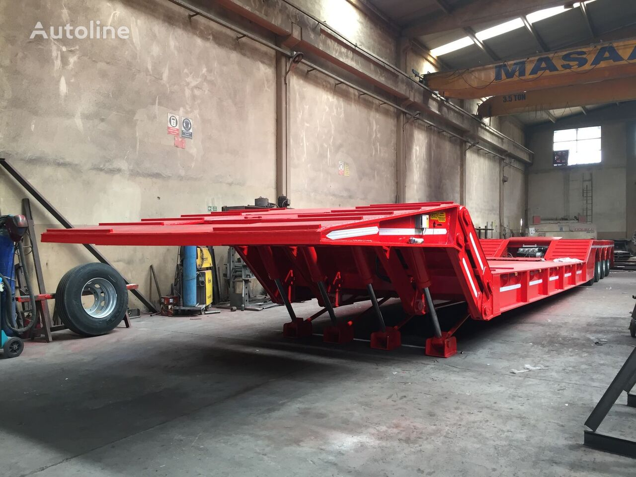 new Ozmen Damper FRONT LOADING LOWBED (FOLDABLE GOOSENECK) low bed semi-trailer