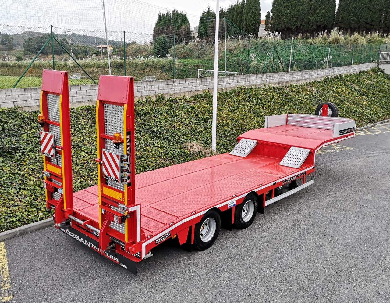new Ozsan Trailer 2 Axle Lowbed (OZS-L2) low bed semi-trailer