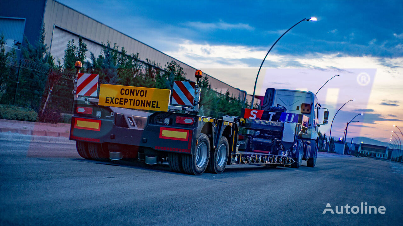 new STU 2 AXLE EXTENDABLE LOWLOADER low bed semi-trailer
