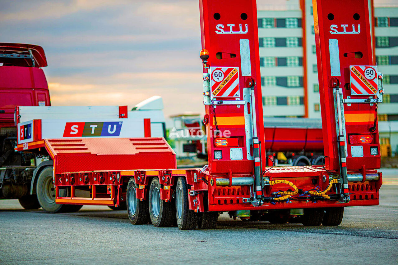 new STU 3 AXLE EXTENDABLE LOWBED low bed semi-trailer