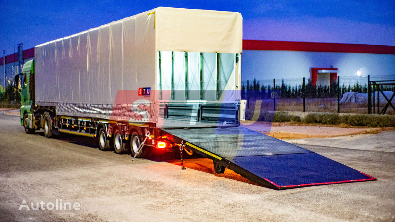 new STU 3 axle Lowbed Trailer with Curtainsider low bed semi-trailer
