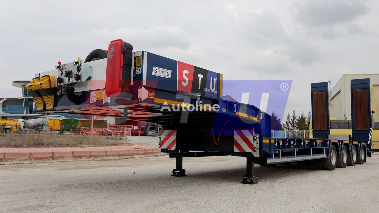new STU 4 AXLE EXTENDABLE LOWBED low bed semi-trailer