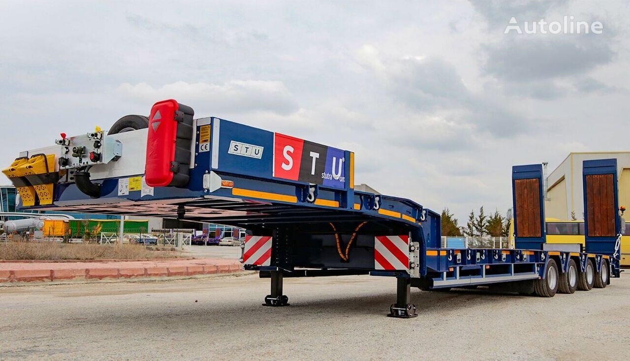 new STU 4 Axle Lowbed  low bed semi-trailer