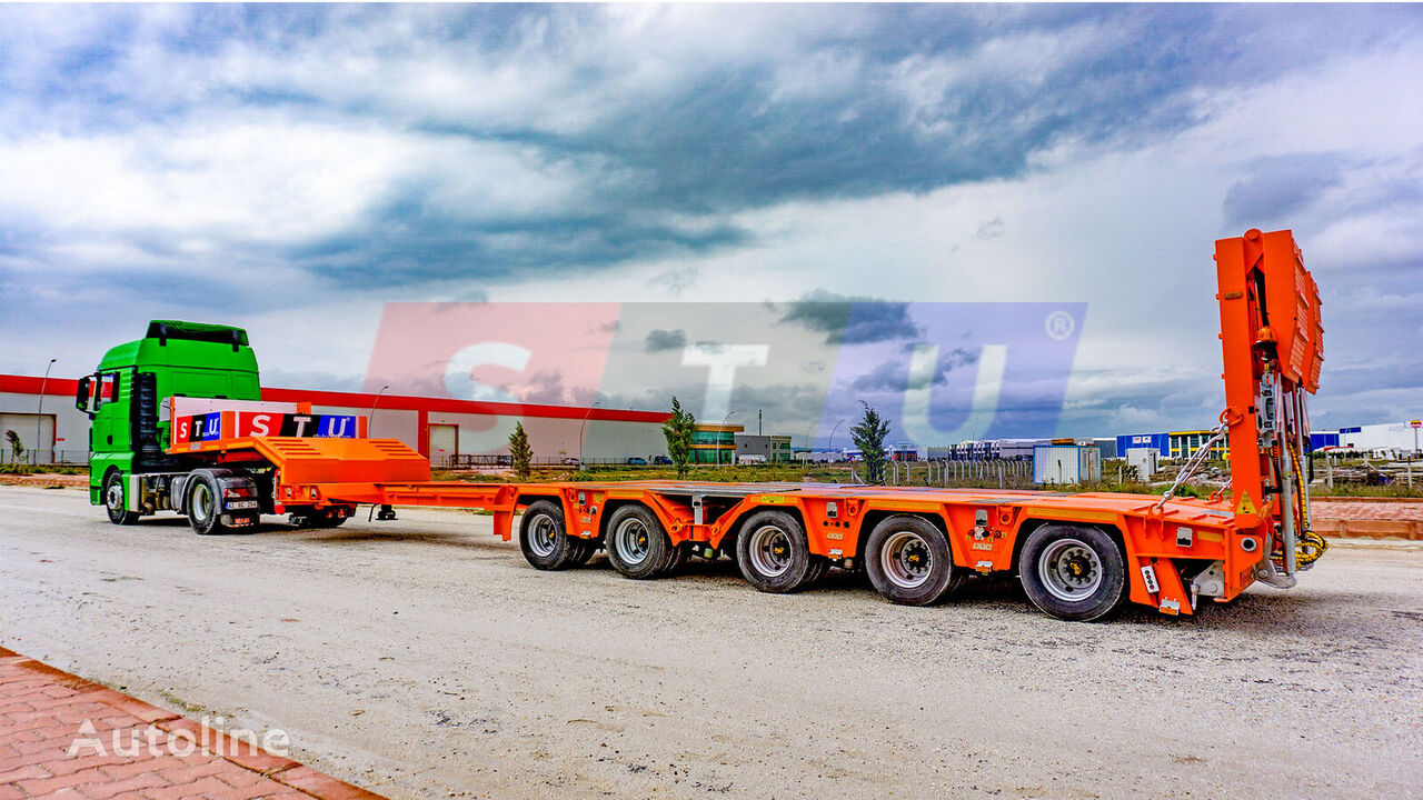 new STU 5 AXLE EXTENDABLE LOWBED low bed semi-trailer