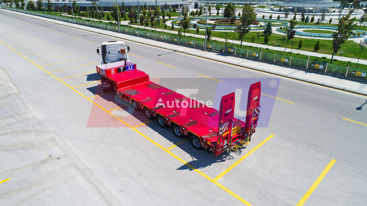 new STU 5 AXLE LOWBED low bed semi-trailer