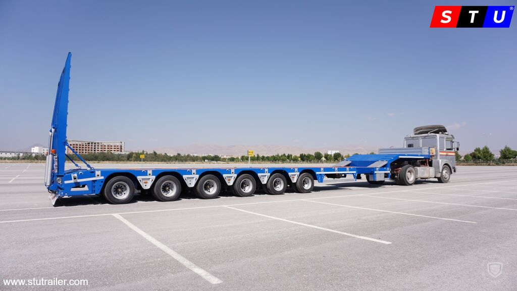 STU 6 AXLE EXTENDABLE LOWBED low bed semi-trailer