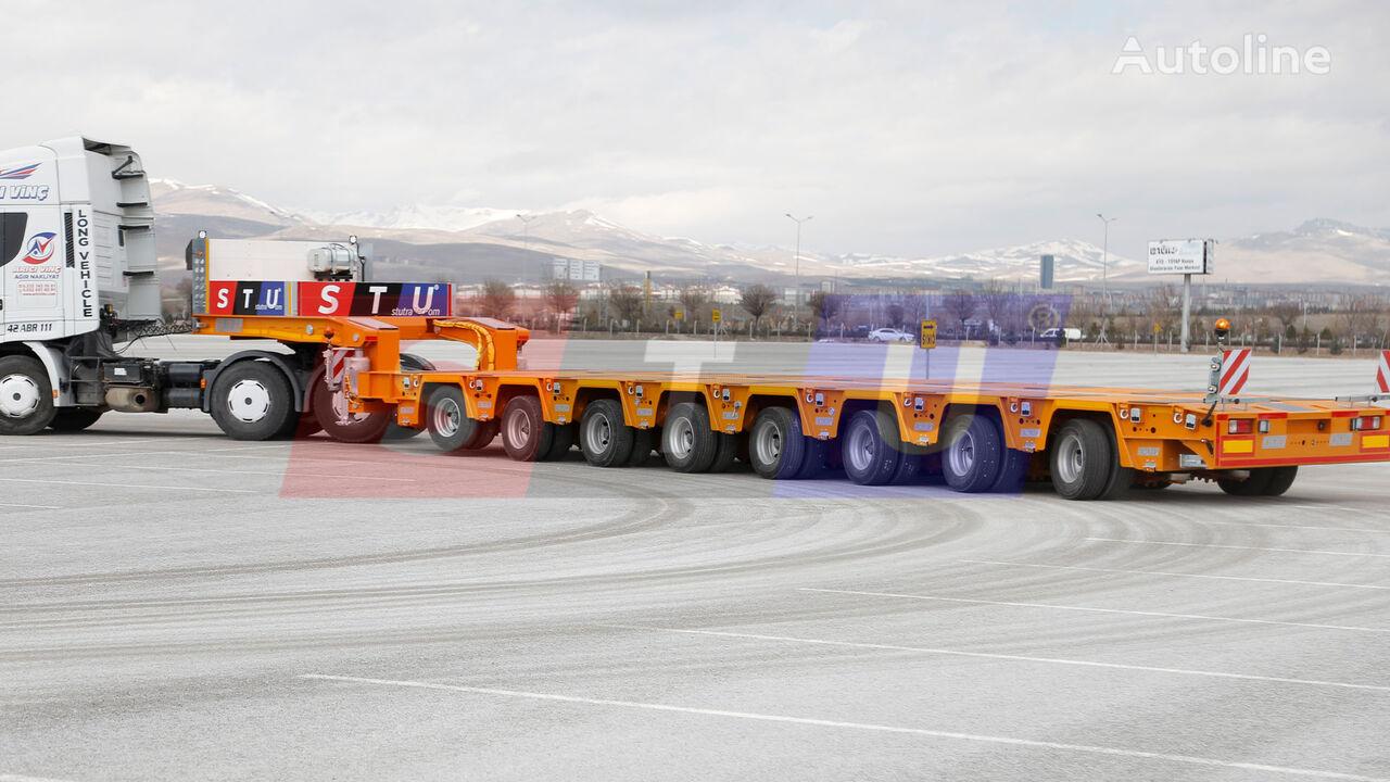 new STU 8 AXLE LOWBED- HYDRAULIC STEERING AXLES low bed semi-trailer