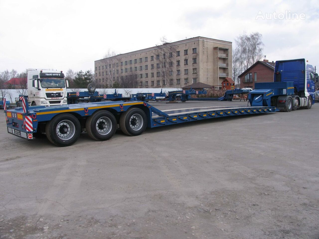 new TAD Classic 40-3 low bed semi-trailer