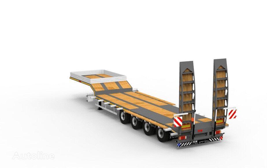 new TAD TUR Jumbo 45-4 low bed semi-trailer