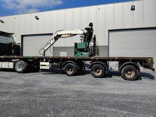 EKW AVEC GRUE COULISSANT platform semi-trailer