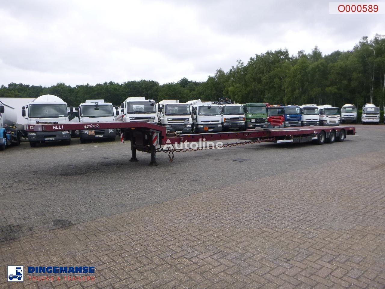 NOOTEBOOM 3-axle semi-lowbed trailer extendable 14.5 m + ramps platform semi-trailer