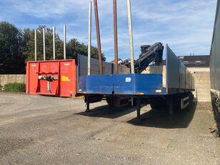 VAN HOOL plateau met HIAB Kraan 13 Ton platform semi-trailer