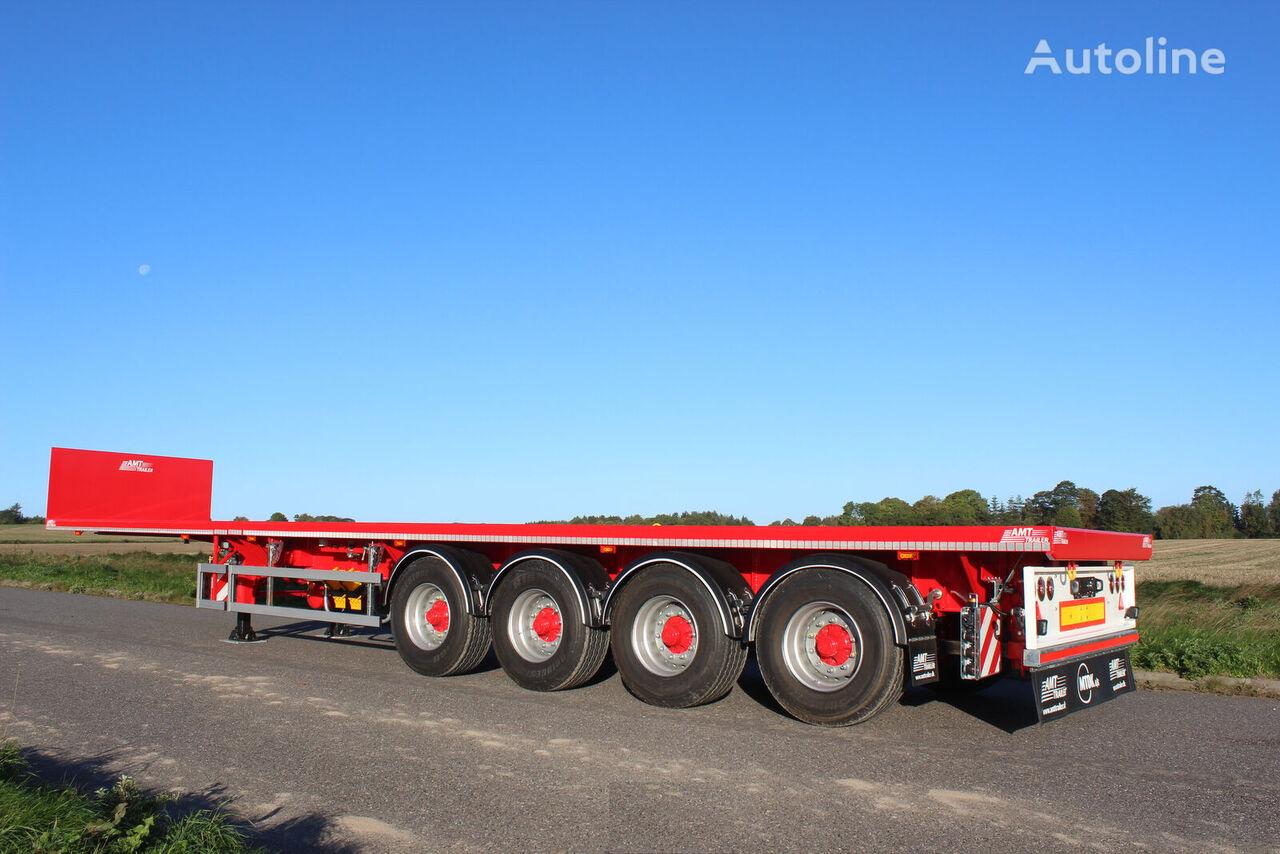 new AMT Trailer UL400 4 akslet åben trailer med 6,5 m. udtræk platform semi-trailer