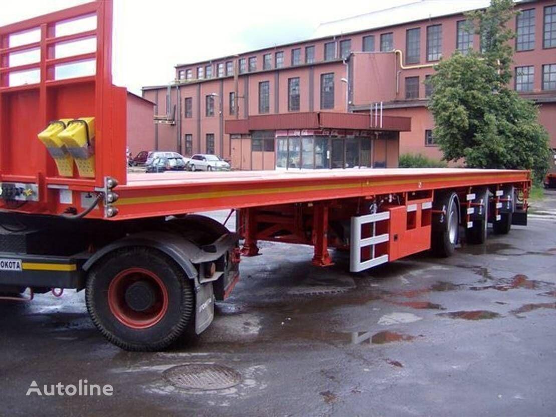 EKW Kraanoplegger platform semi-trailer