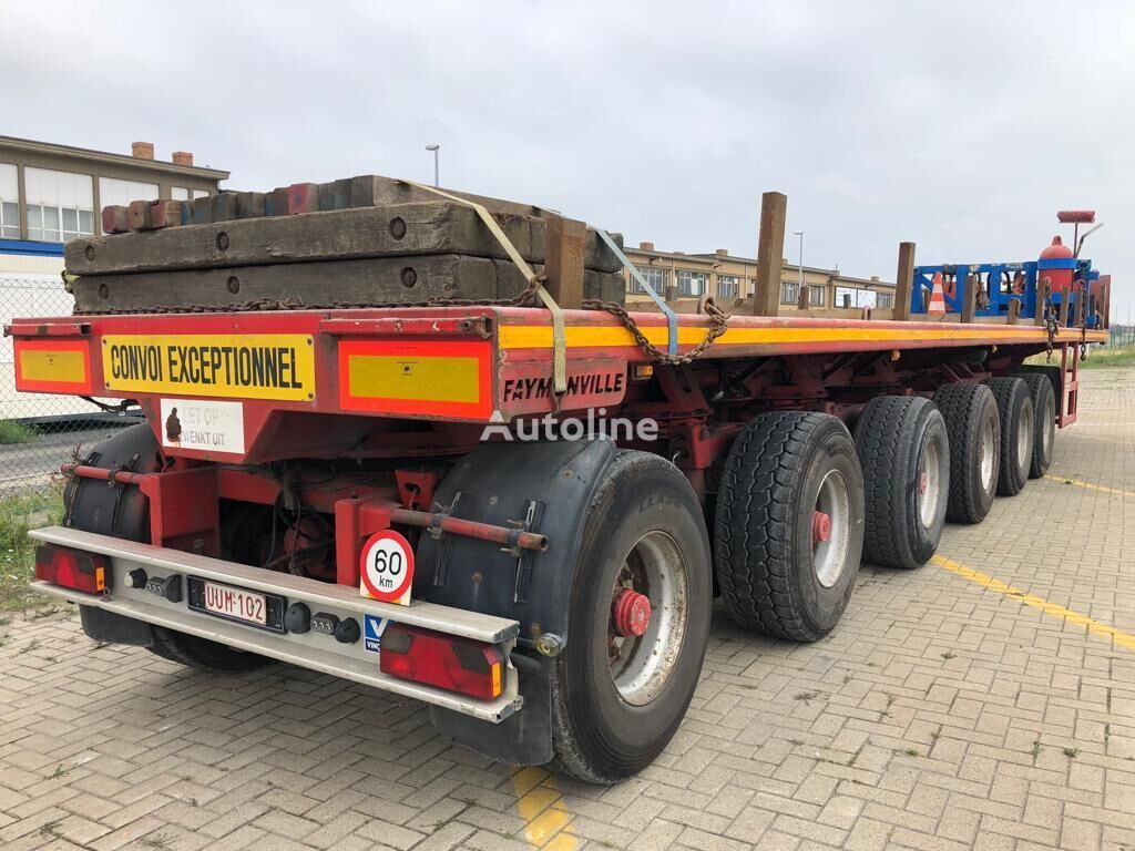 FAYMONVILLE 6 achs Ballast trailer, Nutzlast 102 Ton, Zwangslenkung platform semi-trailer