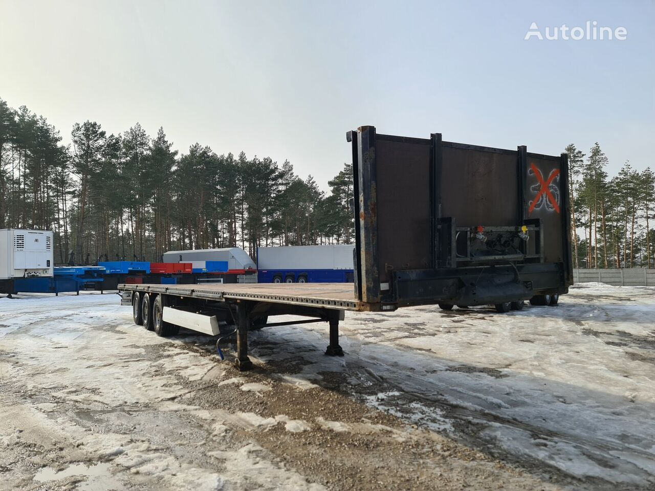 KRONE  MULTILOCK platform semi-trailer