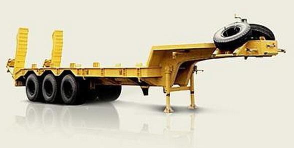 new MAZ 937900-010 platform semi-trailer