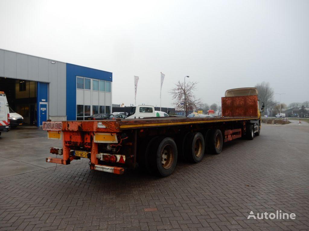 NOOTEBOOM Flat trailer / Extendable / Double montage / 3x steering axle platform semi-trailer