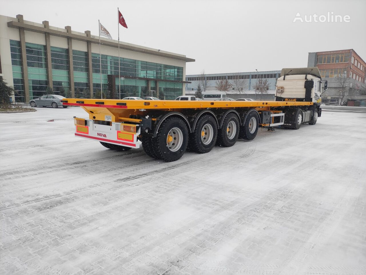 new NOVA FLATBED TRAILER 4 AXLE PRODUCTION platform semi-trailer  platform semi-trailer