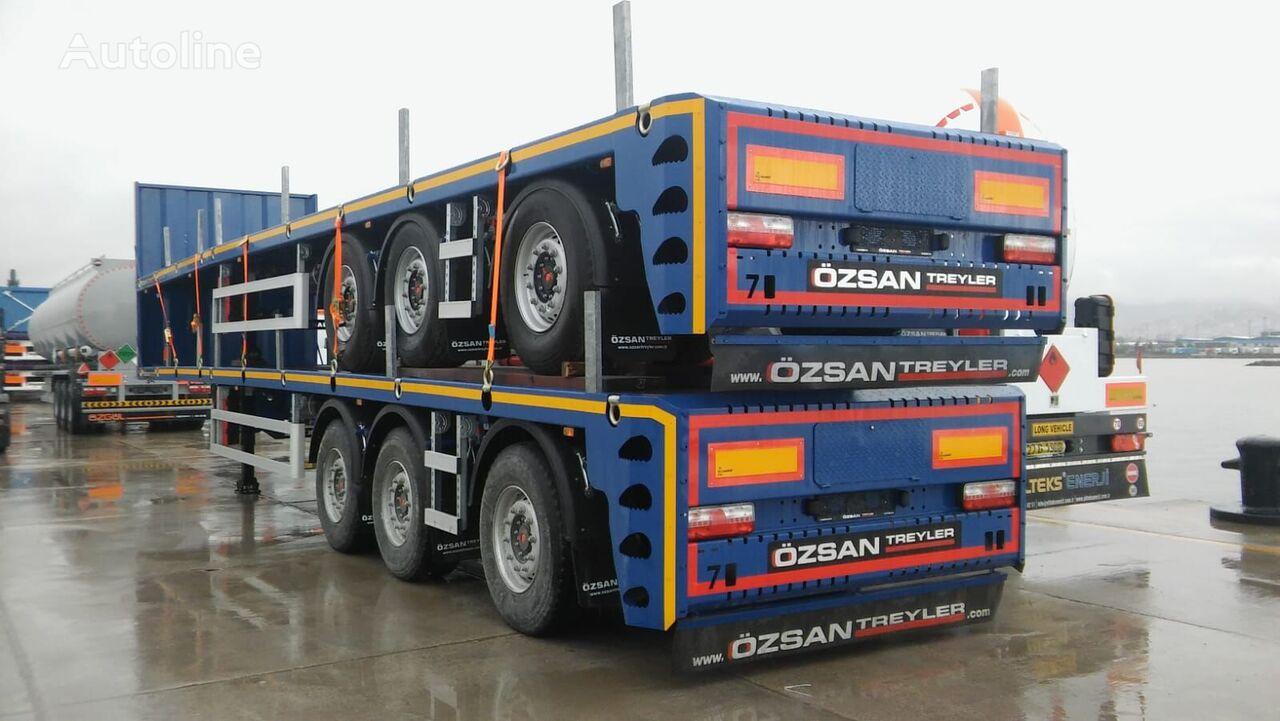 new Ozsan Trailer 3 Axle Platform Extendable Semi-Trailer New  platform semi-trailer