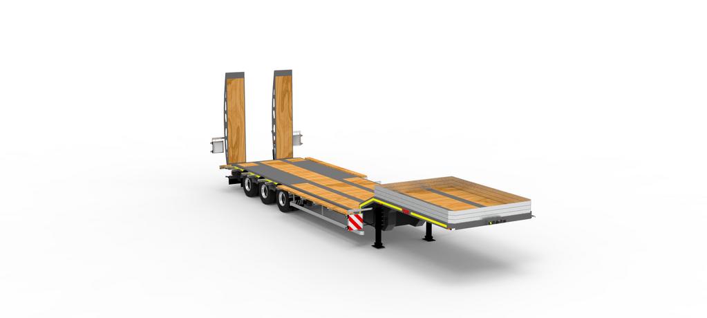 new TAD TUR Jumbo 35-3 platform semi-trailer