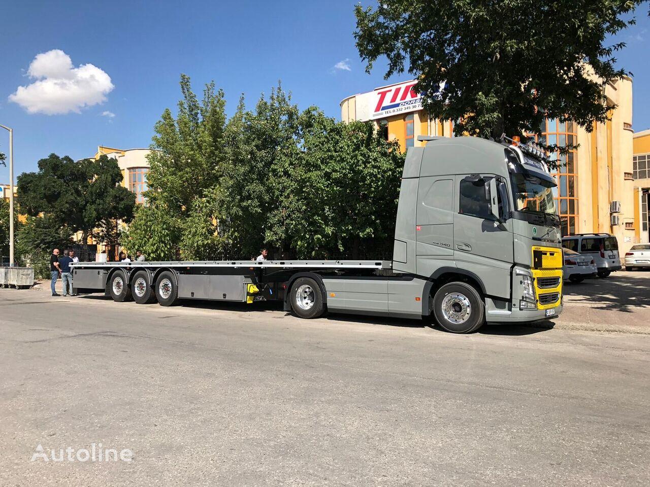 new TIRKON 2021 MODEL 3 - 4  AXLE FLATBED WITH STEERING AXLE platform semi-trailer