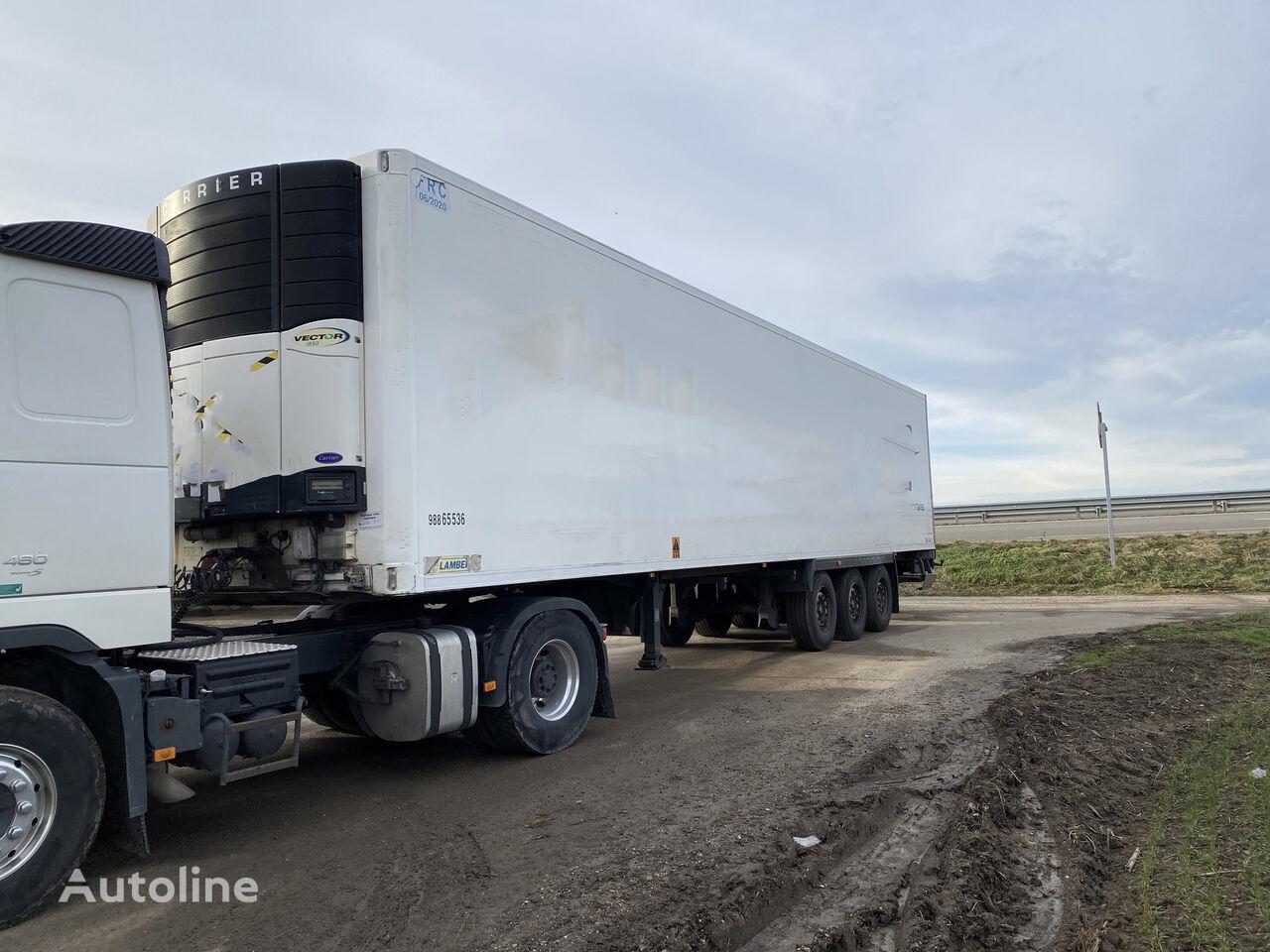 damaged LAMBERET S4R refrigerated semi-trailer