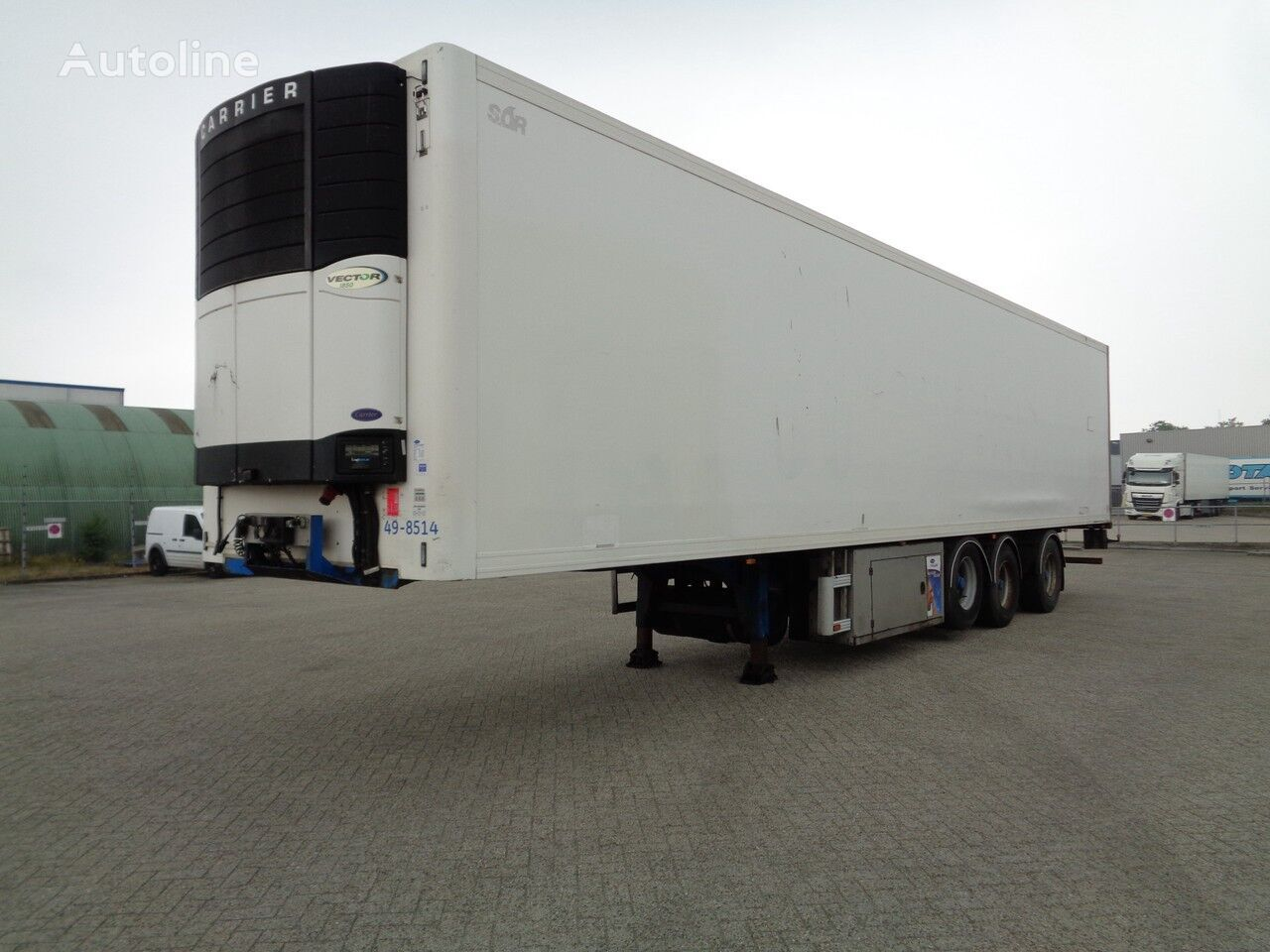 SOR SP71, 3 Achsen, BPW, Carrier Vector 1850, NL Trailer, TOP!! refrigerated semi-trailer