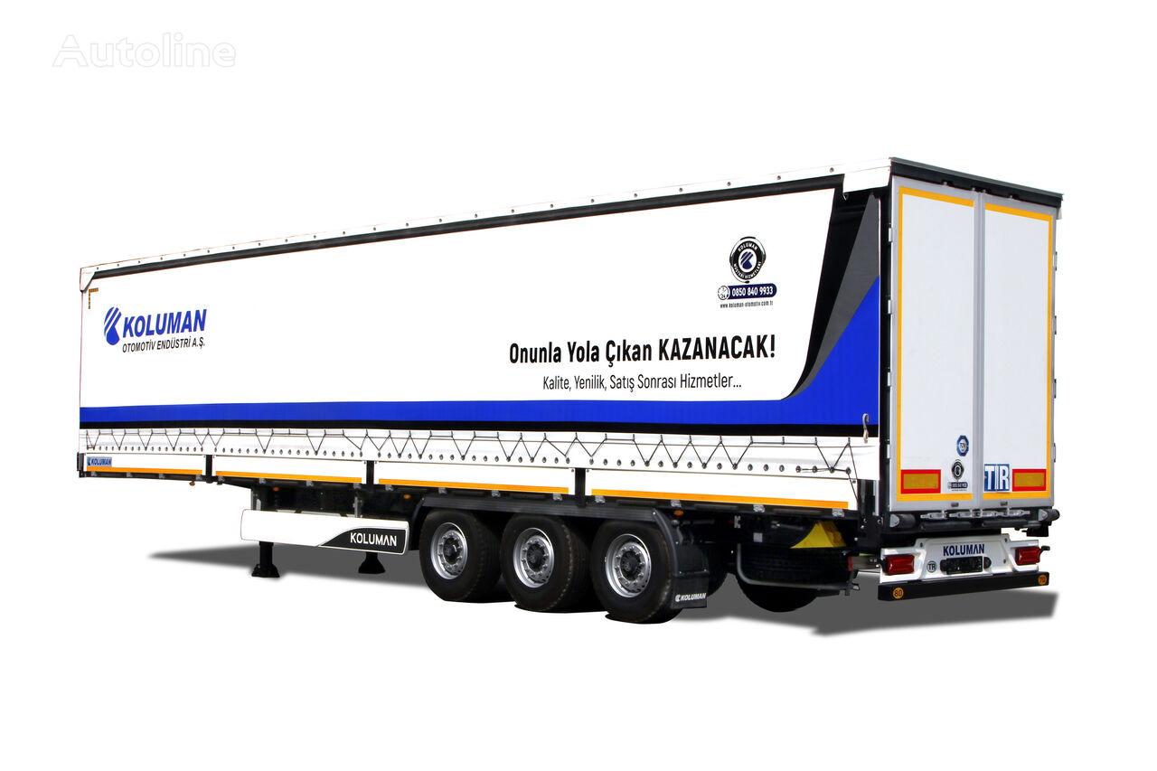 new KOLUMAN Shtora-bort (CARGO) tilt semi-trailer