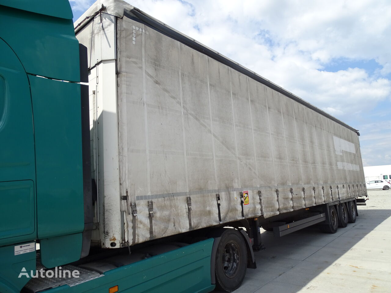 SCHMITZ CARGOBULL SCHMITZ / MEGA / LOW DECK / FRENCH TRAILER / NEW TIRES / GOOD /  tilt semi-trailer