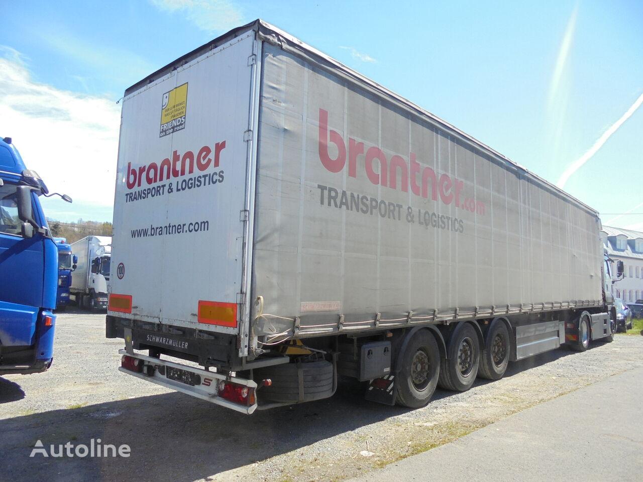 SCHWARZMÜLLER J206, STANDART, AXLES Mercedes, lifting axles tilt semi-trailer