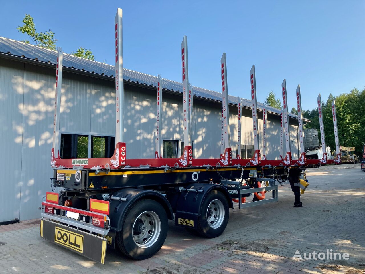 new DOLL Logo 21 rozciągana  timber semi-trailer