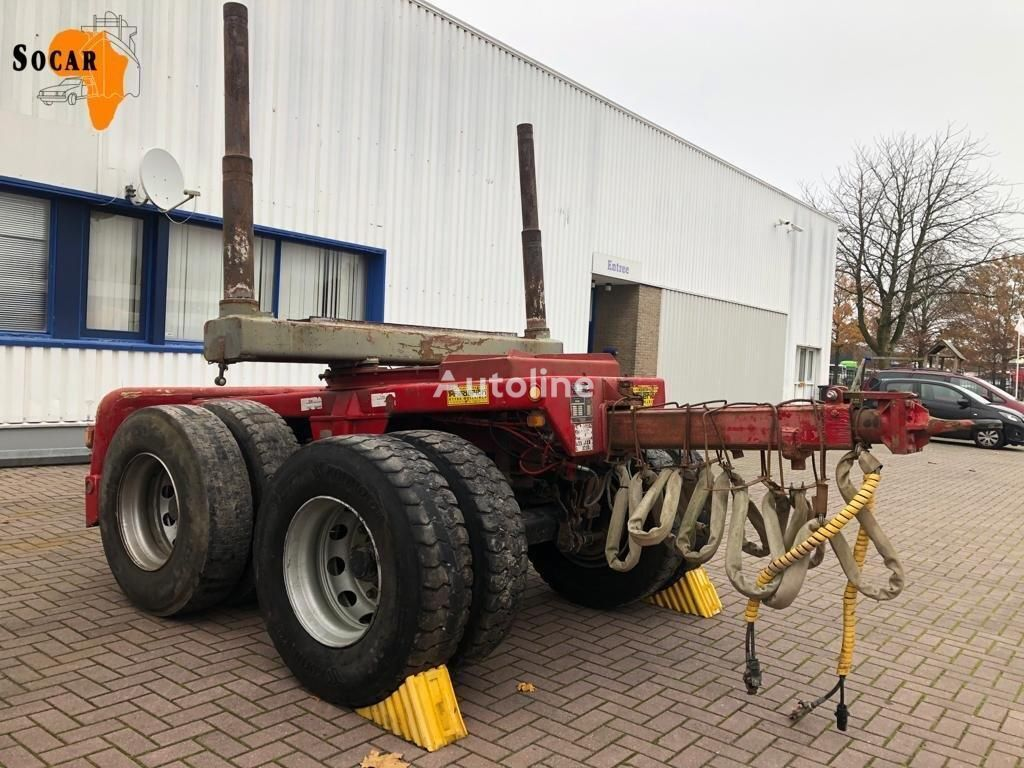 HOUT DOLLY FREDERICH BLAD GEVEERD {4 X STOCK timber semi-trailer