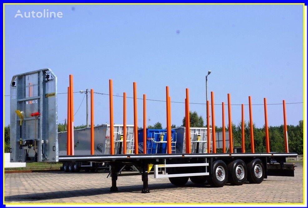 new ZASLAW TRAILIS 13.60 m - HolzAuflieger mit Boden fur 20 Rungen - SOFORT !! timber semi-trailer