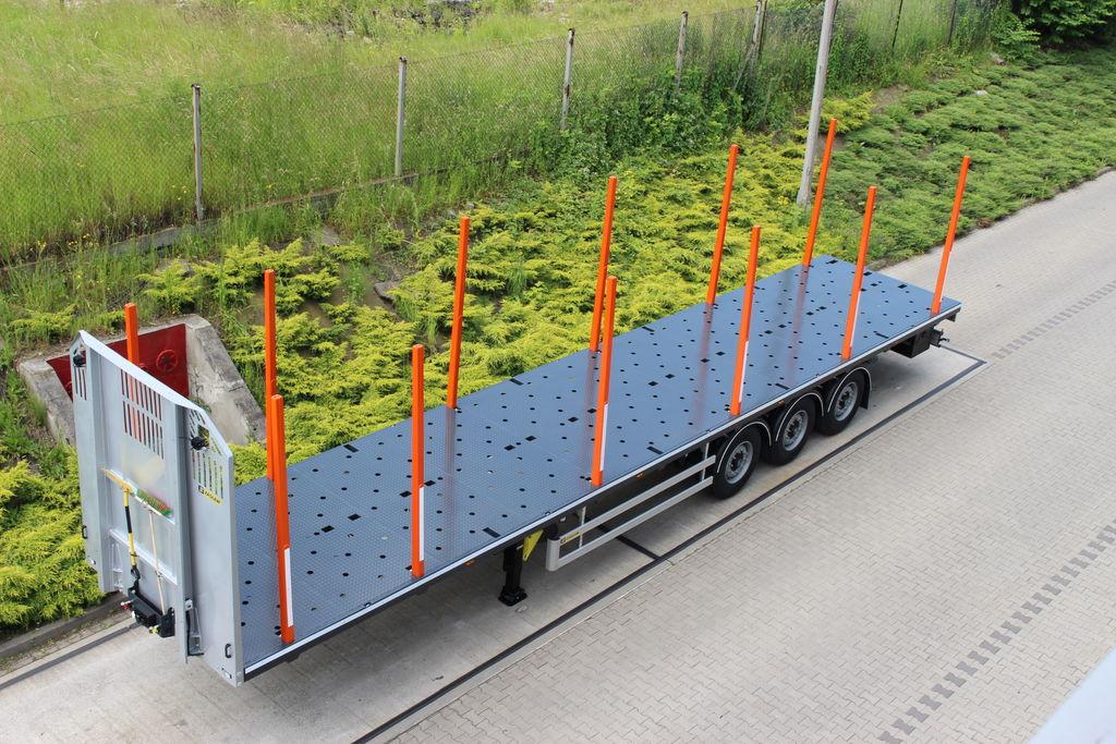 new ZASLAW TRAILIS 651.NL.13.PK[without stakes] timber semi-trailer