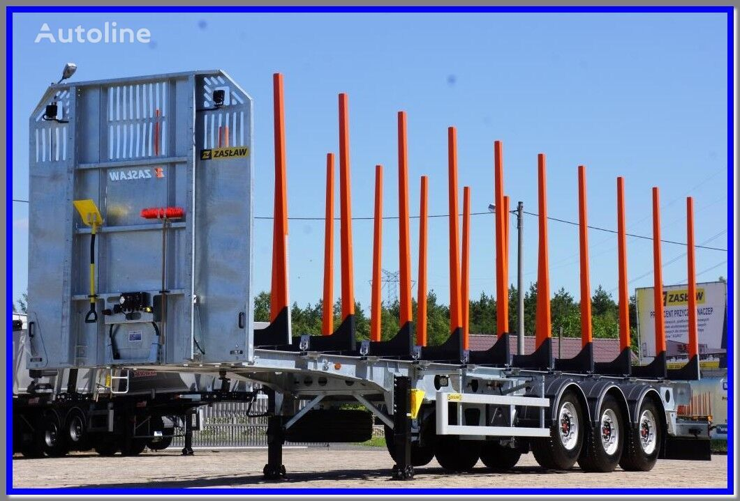 new ZASLAW TRAILIS 651.NL.KP 10 pairs of stake, wood carier TIMBER Light  timber semi-trailer