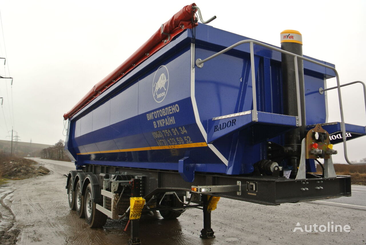new BADOR NP-S 33 tipper semi-trailer